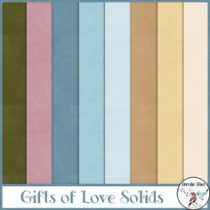 Gifts of Love Solid Paper - The Gifts of Love Collection is full of whimsy and beauty, with flowers, foliage and ribbons. The color palette is lovely with blues & soft tans and accents of mauve & green. This digital scrapbooking collection allows for scrapping year round with its colors and contemporary elements.