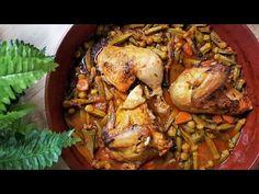 Κοτόπουλο με μπάμιες στον φούρνο!!! - YouTube Greek Recipes, Chicken Wings, Turkey, Meat, Youtube, Food, Turkey Country, Essen, Greek Food Recipes