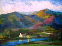 US Impressionism Artist Oil Paintings Landscape Paintings, Landscapes, Irish Landscape, Connemara, Irish Blessing, Ireland Travel, Impressionism, Watercolors, Printmaking