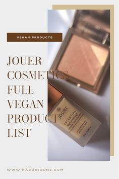 Jouer Cosmetics Full Vegan Product List | Kabuki Rune Jouer Cosmetics, Product List, Cruelty Free Makeup, Runes, My Favorite Things, Vegan, Beauty, Beauty Illustration, Vegans