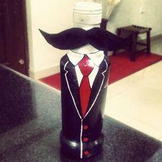 Nathulal #bottlepainting #moustache #thebangaloresnob   The Bangalore Snob
