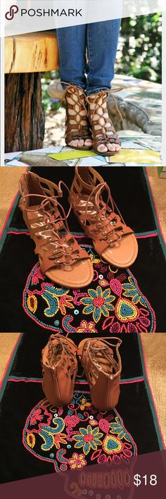 Blue gladiator sandals Blue gladiator sandals brown. Size 6 brand new with box. Blue Shoes Sandals