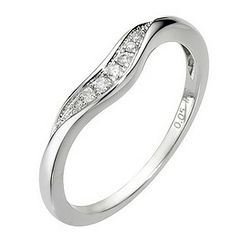 18ct White Gold U Shaped Diamond Ring - Product number 8089825. That is just neat!
