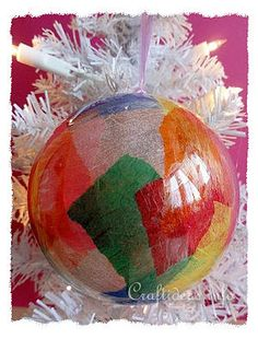 Christmas Craft for Kids - Colorful Christmas Ornament