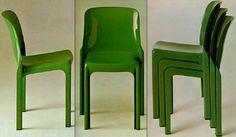 Selene stacking chair - Vico Magistretti pour Artemide - 1968