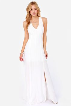 Crocheted in Heaven Ivory Lace Maxi Dress at LuLus.com! - good for wedding vacation!