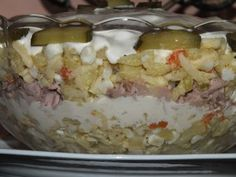 Sałatka wielkanocna z brokułem - Przepisy kulinarne - Sałatki Tuna Salad, Feta, Dairy, Ice Cream, Pudding, Cheese, Desserts, Pineapple, Tuna Fish Salad