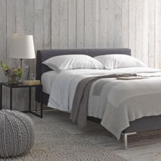 Our Chrome bed is a contemporary upholstered bed that normally costs thousands in classy furniture shops. It's modern and elegant. Bedroom Furniture, Bedroom Decor, Bedroom Ideas, Pine Bedroom, Master Bedroom, Comfy Sofa, Luxury Bedding Sets, Upholstered Beds, Cool Beds