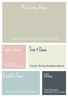Paint Colors - like this pallet together. hometownperch.com/2012/08/color-scheme/#more-6514