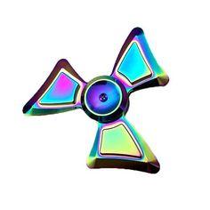 Buy fidget spinner rainbow color model rainbow trio angle figet hand spinner. fidget spinner rainbow aluminium alloy high quality Bearing, fidget spinner