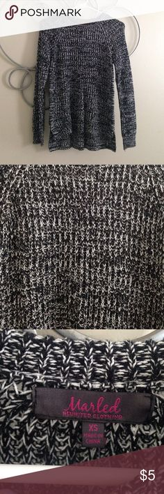 Black and white sweater!! NWT Super cute, never worn. NWT!! Zipper down the sides. (Not Nordstrom brand, just for views!!!) Nordstrom Sweaters Crew & Scoop Necks