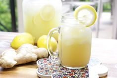 Ginger Lemonade !!! When life gives you lemons make ginger lemonade….right ?!! This easy and refreshing recipe will change the rest of your summer!!