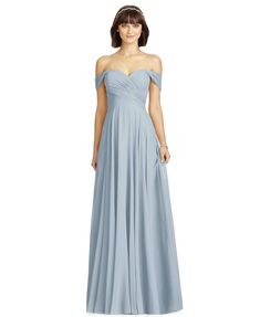 Elegant off-the-shoulder formal gown by Dessy. Suggested occasions include but are not limited to bridal party and prom. The post Dessy Off-The-Shoulder Chiffon Formal Gown first appeared on Koopo Online.