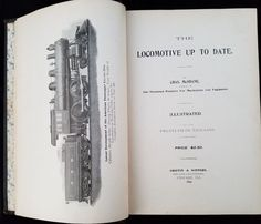 1899 Locomotive Up To Date Charles McShane Griffin & Winters History Operation #Railroad Collectible Memorabilia