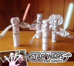 Star Wars Finger Puppet Craft