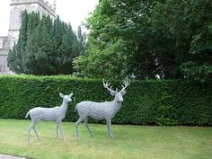 24. Wire stag and doe at Coughton Court
