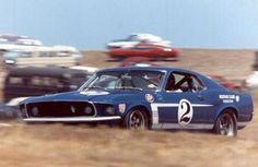 Dan Gurney - Ford Mustang Boss 302 - Shelby Racing Corporation - Laguna Seca Trans-Am - 1969 Trans-Am, round 9 Ford Mustang Boss, Mustang Cobra, Blue Mustang, Trans Am, Modern Muscle Cars, Custom Muscle Cars, Triumph Scrambler, Classic Mustang, Ford Classic Cars