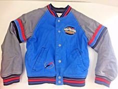 Disney Store Power Ranger Letterman Jacket Coat Blue Jean Boys Youth M  #Disney #JeanJacket