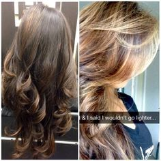 (Right) 1st session, bayalage highlights on virgin hair -- (Left) 2nd session | Yelp
