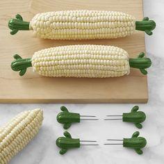Cactus Corn Holders, Set of 4 #williamssonoma