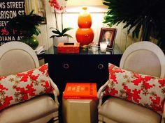 Orange is the new... #Chicago #Mecox #interiordesign #MecoxGardens #furniture #shopping #home #decor #design #room #design #room #designidea #vintage #antiques #garden