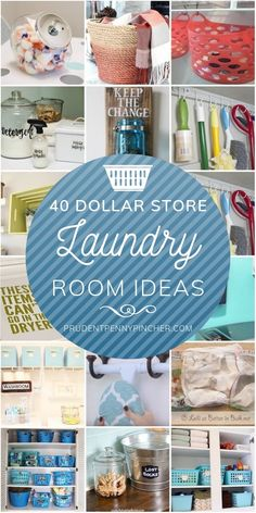 Give your laundry room a makeover for less with these dollar store laundry room ideas. From hacks and organization ideas, there are plenty of different ways to transform your laundry room regardless of size and room art 40 Dollar Store Laundry Room Ideas