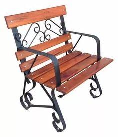 cadeira de descanso artesanal em ferro e madeira!!