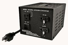 Heavy-Duty Voltage Converters: Simran Sm-2000J Japanese 2000 Watt Step Up / Down Voltage Transformer Converts BUY IT NOW ONLY: $134.03
