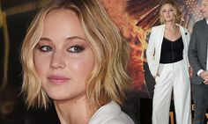 Jennifer Lawrence is elegant in trouser suit at Hunger Games photocall.