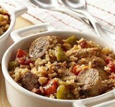 Crockpot Chicken-Sausage & Rice - Dinner Eatery