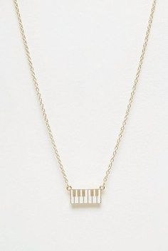 These itty bitty piano keys. | 20 Incredibly Cute Necklaces Under $20