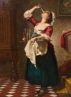 Wilhelm August Lebrecht Amberg (German painter) 1822 - 1899 Das Naschkaetzchen (aka The Property of a Noble Lady), 1862 64 x 46 cm. signed and dated l. Amberg the reverse of the canvas inscribed with title and the painter's name private collection 18th Century Clothing, 18th Century Fashion, 17th Century, Classic Paintings, Old Paintings, Vintage Paintings, Watercolor Paintings, Arte Peculiar, Classical Art
