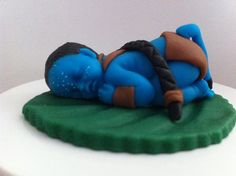 Avatar Inspired Fondant Baby. $14.00, via Etsy. INCREDIBLE!
