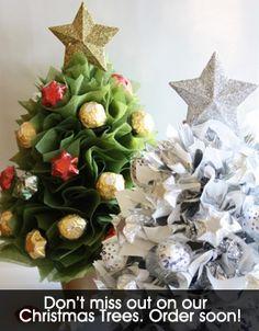 DIY ☆ Fabriquer un sapin de Noël avec des chocolats ☆ Dire merci ☆ Petite attention ☆