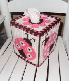 Adorable Ladybug Tissue Box Cover by TissueMart on Etsy, $18.00