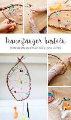 Tinker dream catchers quickly and easily with small children. Here is the ultimate guide! # dream catcher crafts Tinker dream catchers quickly and easily with small children. Here is the ultimate guide! Dream Catcher Craft, Large Dream Catcher, Dream Catcher Boho, Dreamcatchers, Diy For Kids, Crafts For Kids, Fun Craft, Corner Bookmarks, Boho Nursery