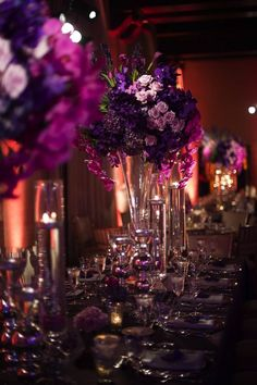This pink and purple Washington DC wedding at the St. Regis Hotel is luxurious and filled with glam. Evoke Photography worked the magic behind the lens Mod Wedding, Purple Wedding, Wedding Colors, Wedding Styles, Wedding Flowers, Wedding Ideas, Peacock Wedding, Diy Flowers, Amazing Weddings