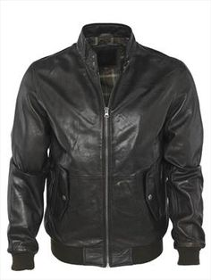 Barneys black label leather bomber jacket £160.00