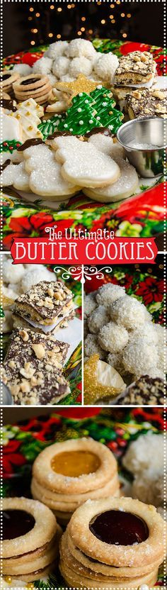 This recipe is so versatile (and frankly yummy), the same basic dough can be made into a lovely variety of cookies, from jam filled sandwiches to snowballs to chocolate bar cookies. Butter cookies with the perfect consistency and delicious too!