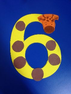 Number 6 giraffe craft Your toddler is now preschool age -- learn what behaviors you may anticipate Numbers Kindergarten, Numbers Preschool, Toddler Preschool, Preschool Crafts, Toddler Drawing, Toddler Art, Alphabet Letter Crafts, Alphabet And Numbers, Bus Crafts