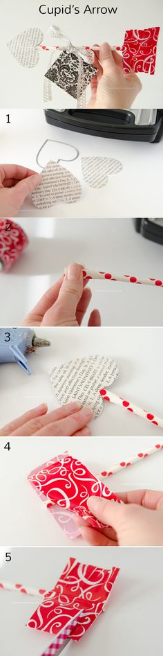 How to make Cupid arrow Valentine || Great non-candy valentine gift.
