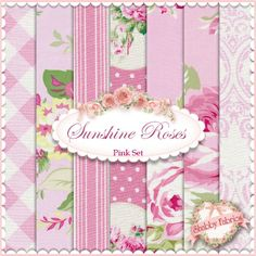 Sunshine Roses Pink 7 FQ Set by Tanya Whelan for Free Spirit http://www.shabbyfabrics.com/Sunshine-Roses-Pink-7-FQ-Set-By-Tanya-Whelan-For-Free-Spirit-P22936.aspx?categoryid=1272 #weekendprojectwednesday