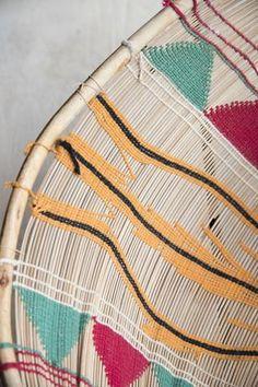 Incausa Large Mehinako Fishing Basket in Red/Green Triangle Red Green, Triangle, Fishing, Objects, Basket, Brooklyn, Pattern, Color, York