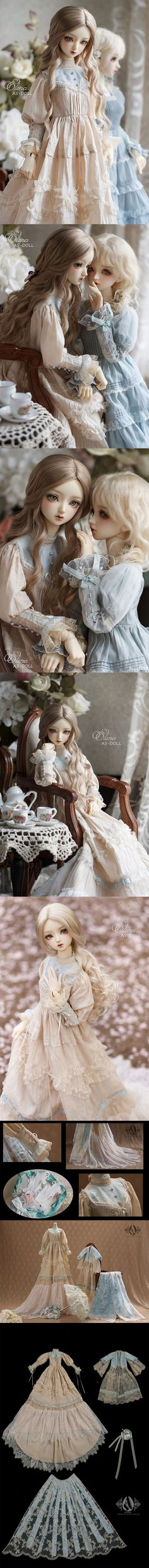 1/3 Girl Elina Victoria Dress Fullset -Blue snow CL36220160602 for SD Ball-jointed Doll_SD_SD_CLOTHING_Ball Jointed Dolls (BJD) company-Legenddoll