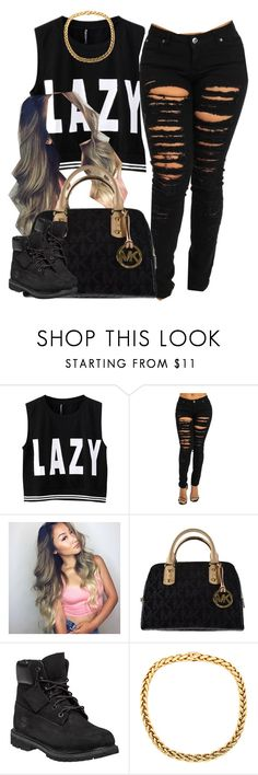 """."" by trillest-queen ❤ liked on Polyvore featuring Michael Kors, Timberland, women's clothing, women, female, woman, misses and juniors"