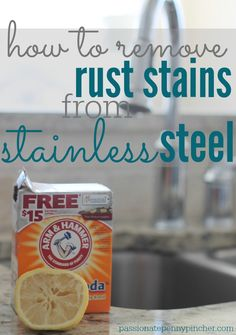 How To Remove Rust Stains From Stainless Steel (& Freshen Your Sink Too How To Remove Rust Stains From Stainless Steel – just 2 ingredients you probably have already at home! Deep Cleaning Tips, House Cleaning Tips, Cleaning Solutions, Spring Cleaning, Cleaning Hacks, Cleaning Products, Cleaning Checklist, Hacks Diy, Cleaning Supplies