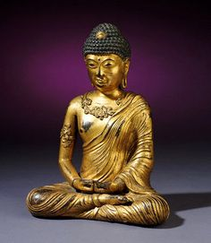 -A Fine And Rare Gilt-Bronze Figure Of Amithaba Buddha