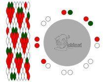 Схема кумихимо на 16 нитей клубника