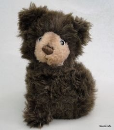 #Steiff Germany #Snuffy #Bear Dark Brown Plush Teddy Dralon Snout 14 cm no ID 1970s Vintage
