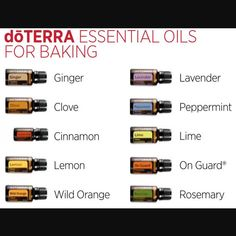 Next time you do some baking, try adding essential oils in the ingredients!  Tips*  A little goes a long way. Add one drop, stir, and taste. Repeat until you've reached your desired result. Use a glass, metal or ceramic bowl to mix, as essential oils can break down plastics.  Essential oils have a much longer shelf-life than dried herbs or spices. While oils may be more costly in the initial stages, over the long haul they will prove to be more cost-effective, and because they are pu